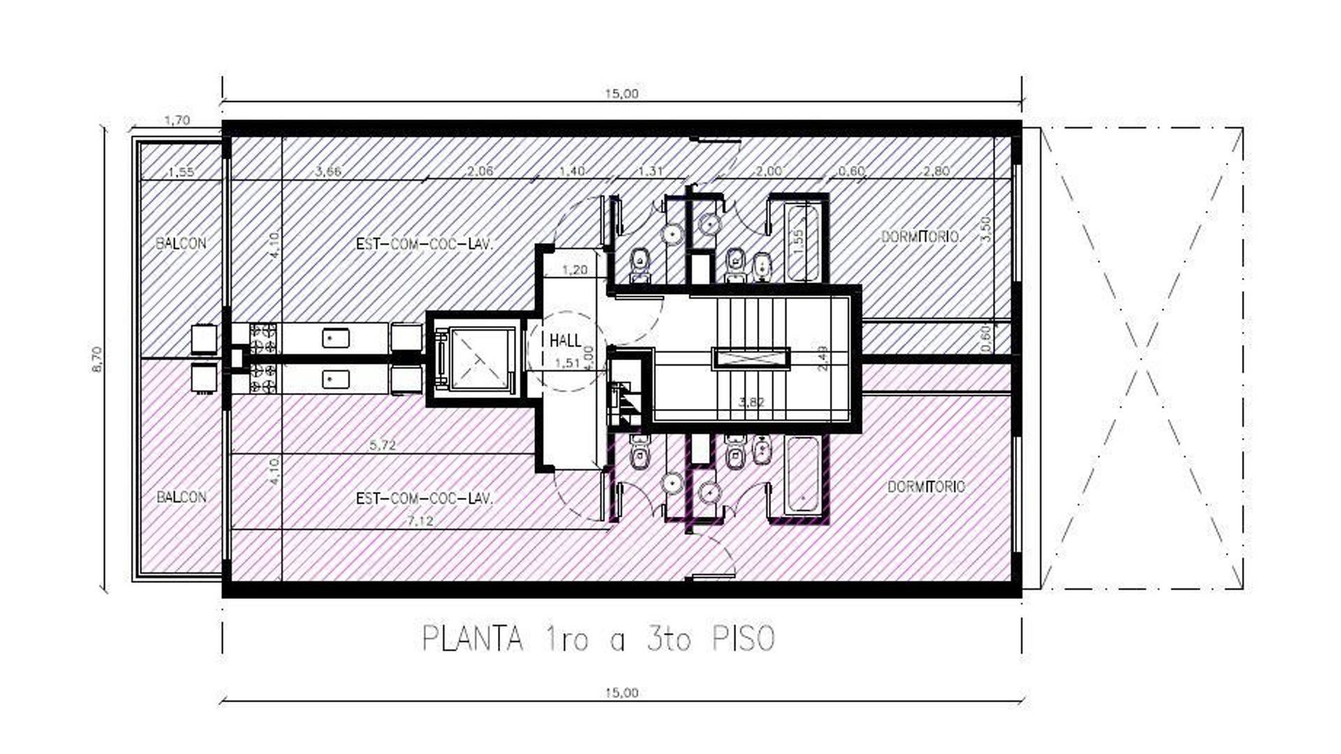 Nogoyá 4400 - 2 Amb 52 m2 + Balcón con Dormitorio en Suite +